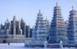 Ледяные скульптуры в Харбине